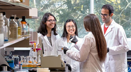 Students from the Biochemistry Discovery & Commercialization Program