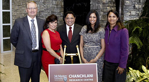 The Chanchlani Family (centre), John Kelton (left) and Sonia Anand (right)