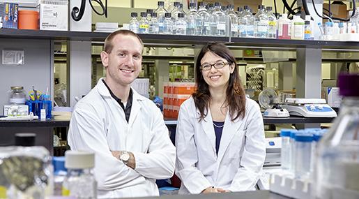 Dawn Bowdish in an IIDR lab