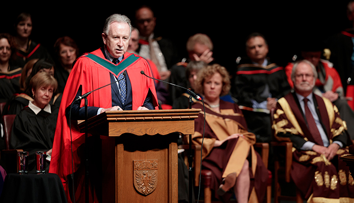 Pault O'Byrne speaking at convocation
