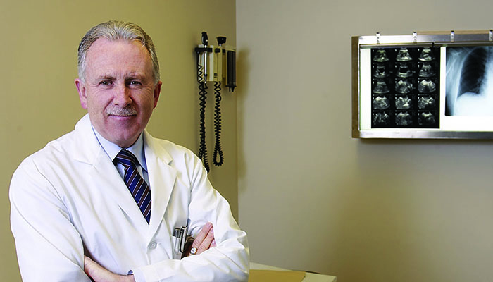 Paul O'Byrne, professor of medicine at McMaster University's Michael G. DeGroote School of Medicine and a clinician scientist at the Firestone Institute for Respiratory Health at St. Joseph's Healthcare Hamilton.