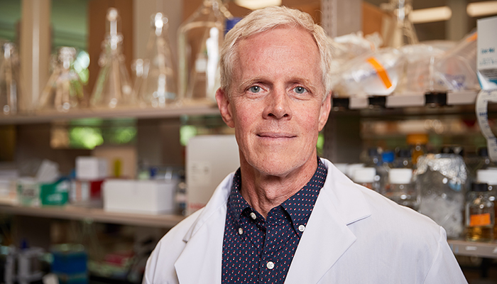 Eric Brown is a distinguished university professor of biochemistry and biomedical sciences and a member of the Michael G. DeGroote Institute for Infectious Disease Research.