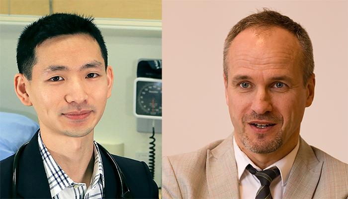 Assistant professor Derek Chu, left, and professor Holger Schünemann.