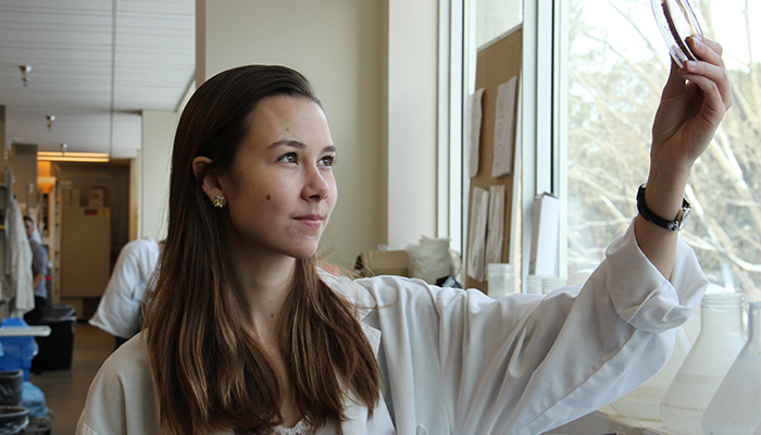 Elizabeth Culp, co-principal author and a McMaster PhD candidate in biochemistry.