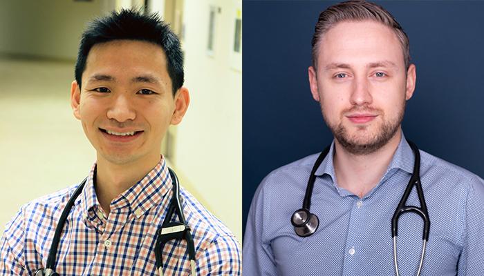 Derek Chu, assistant professor, medicine and Paul Oykhman, assistant clinical professor, medicine