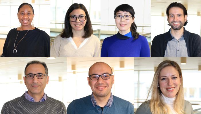 2020 MGDII Health ICE Fellows: Blessing Bassey, Maria Eugenia Davola, Tseegii (Battsetseg) Batchuluun, Steven Gameiro, Reza (Mohammadreza) Heydarian, Karim Soliman, and Milica Vukmorivic.