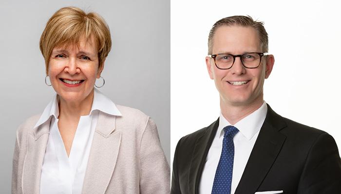 Professor Harriet MacMillan and associate professor Ryan Van Lieshout