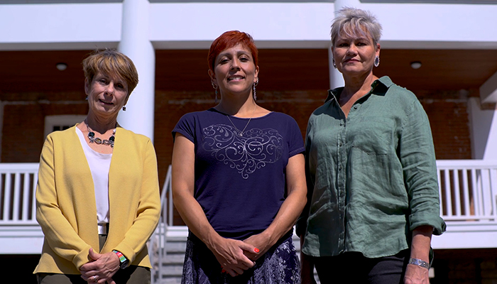 Joyce Zazulak, Amy Montour, and Lorrie Gallant (left to right).