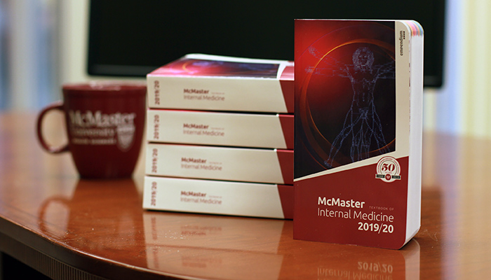 The McMaster Textbook of Internal Medicine is almost entirely authored by McMaster faculty members who are considered leaders in their fields.