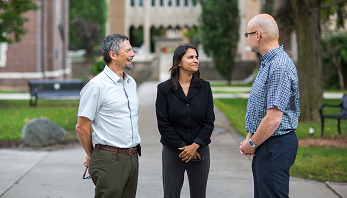 COMPASS study authors, from left: Stu Connolly, Sonia Anand and John Eikelboom