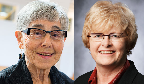 May Cohen (left) and Mary Law (right), recipients of the Order of Canada
