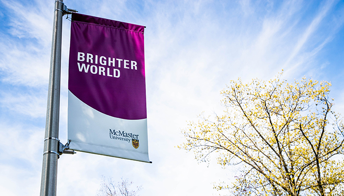 Brighter World Banner on a clear blue sky