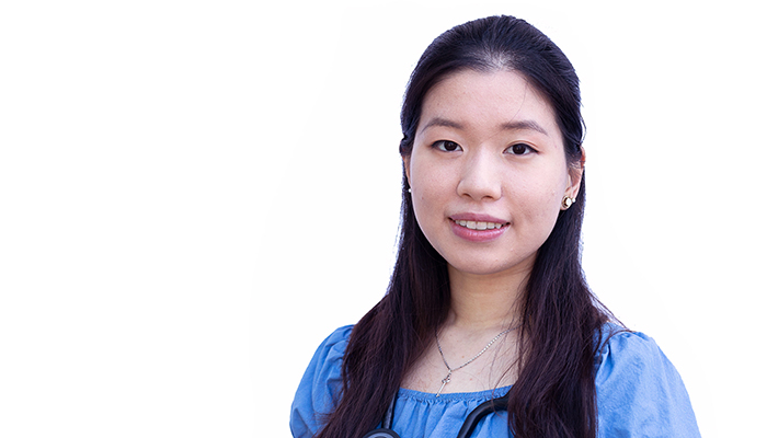 Kay Wu, a second-year student at McMaster's Michael G. DeGroote School of Medicine