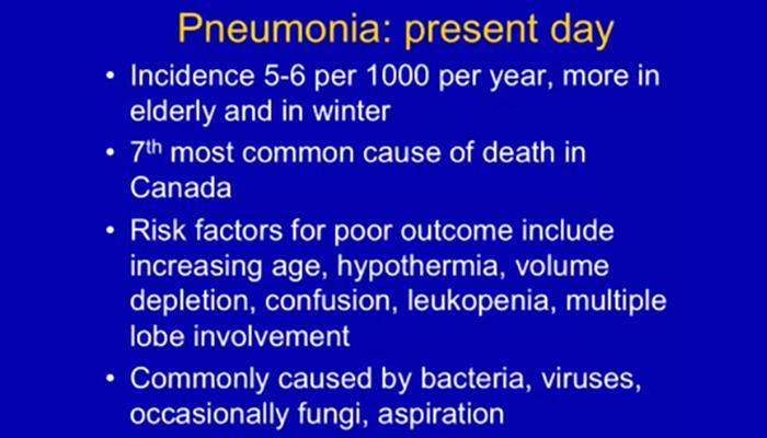 Pneumonia, still the old man's friend? A clinical presentation