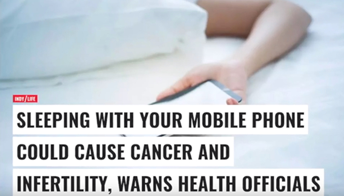 Sleeping with mobile phone may cause cancer