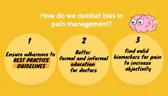 Combat bias in pain management