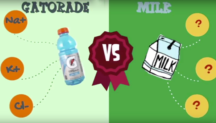 Gatorade vs milk