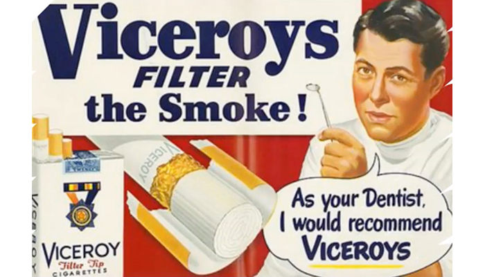 Viceroys cigarette advertisement