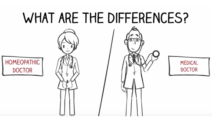 Differences between homeopathic and medical doctor