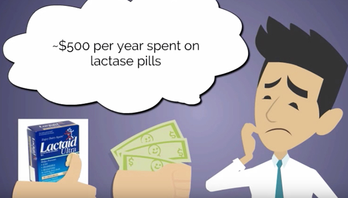 Lactase pills