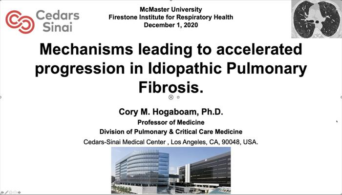 Mechanisms Leading to Accelerated Progression in Idiopathic Pulmonary Fibrosis Dr. Cory Hogaboam