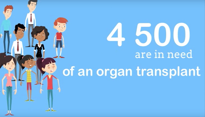 4500 people in need of organ transplant