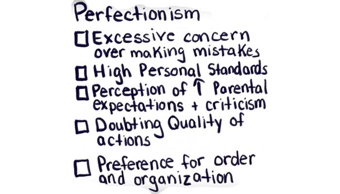 Characteristics of perfectionism