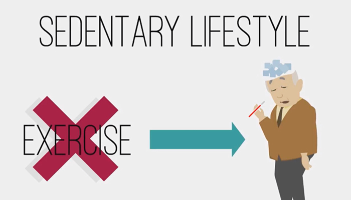 Sedentary lifestyle vs. exercise for elderly