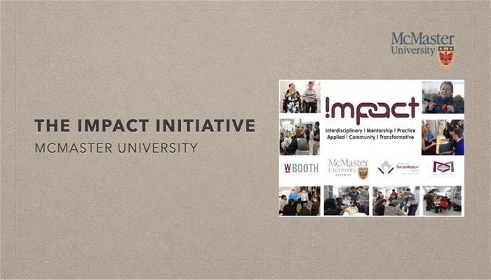 The IMPACT Initiative at McMaster University