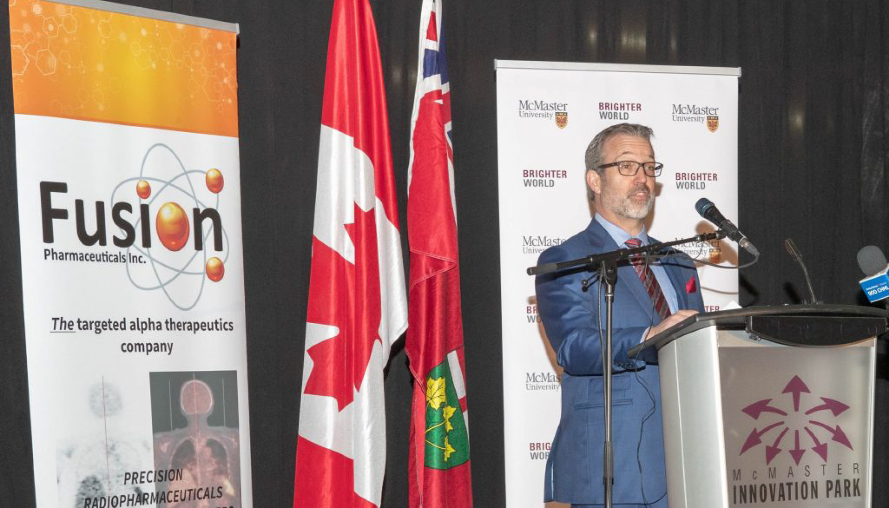 Fusion Pharmaceuticals, founded by chemistry professor John Valliant, began as a McMaster-based startup and is now listed on the Nasdaq. The new McMaster Seed Fund will support promising McMaster start-ups with high growth potential.
