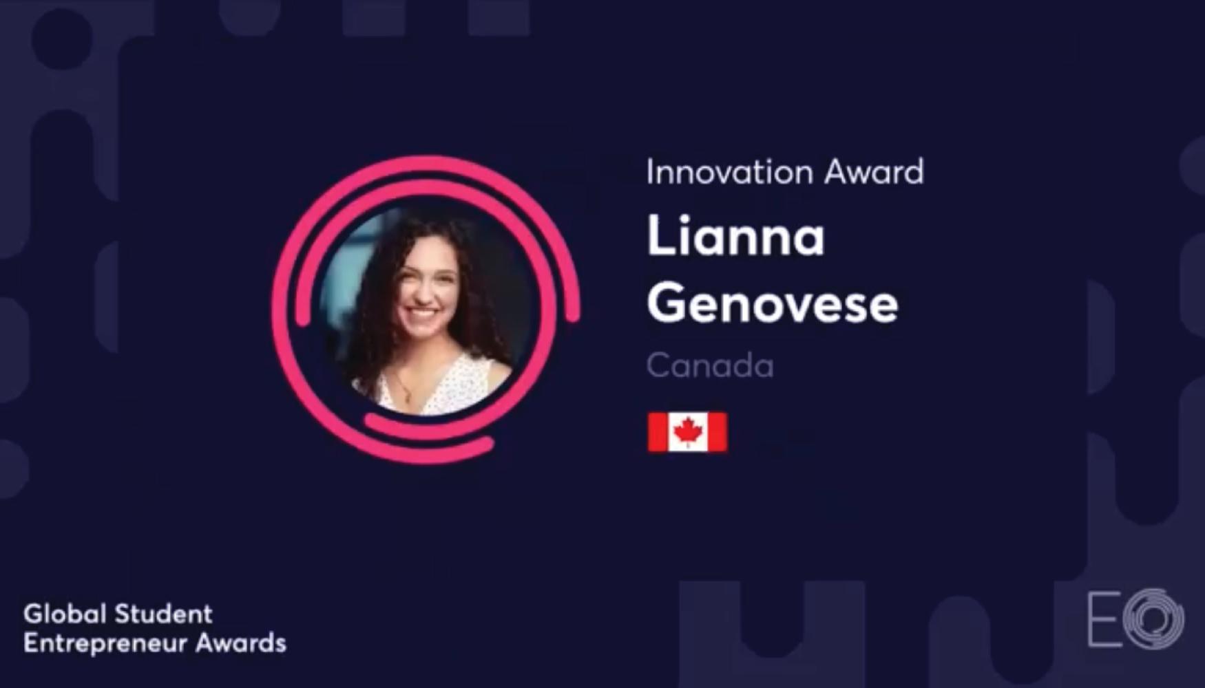 The Clinic @ Mac resident Lianna Genovese won the Innovation Award at the 2021 Global Student Entrepreneur Awards