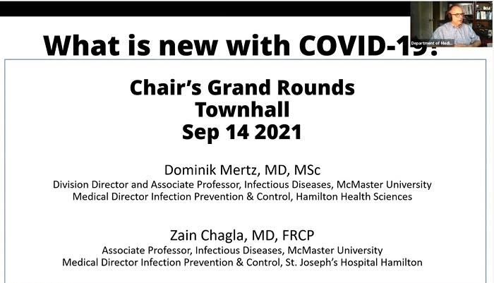 Chair's Medical Grand Rounds, Town Hall: What is New With COVID-19?