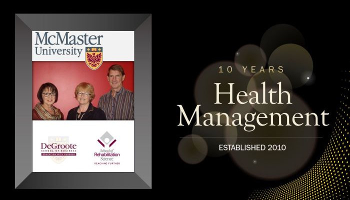 10 years - Health Management - Established 2010 by Patricia Wakefield, Mary Law and Glen Randall