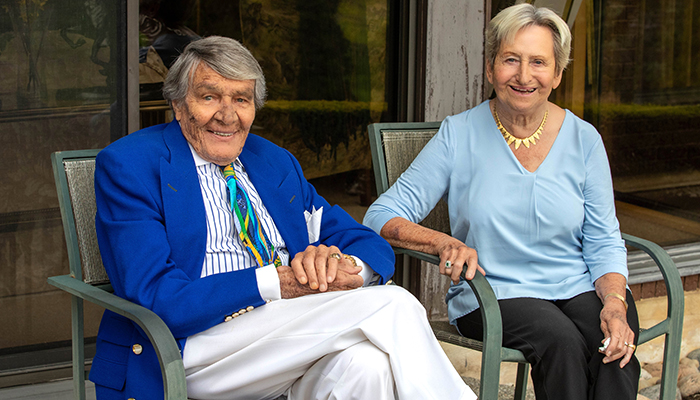 Charles and Margaret Juravinski at their home in Greensville in May 2019.