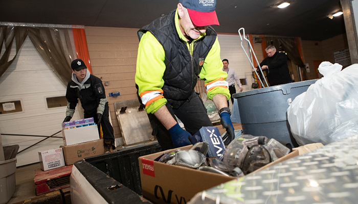 The Faculties of Health Sciences, Engineering and Science are donating masks, gloves, goggles, sanitizer and other vital medical supplies from labs across McMaster to help local hospitals combat COVID–19.