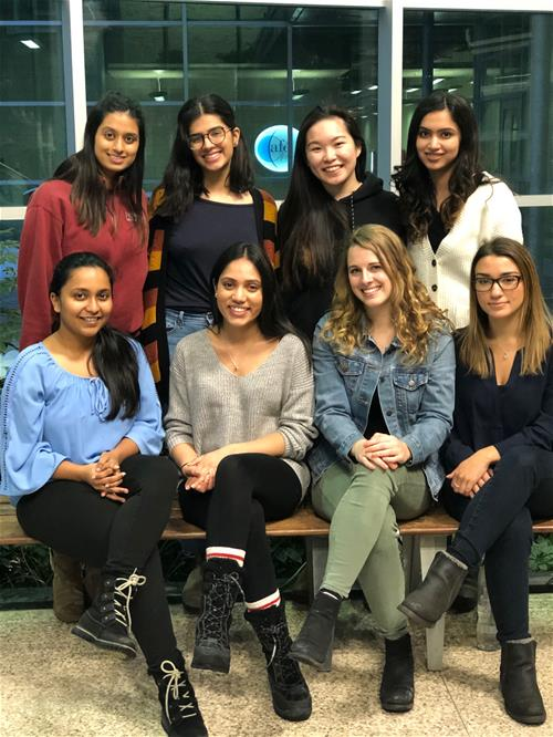MPH Student Association (top left to bottom right): Ashley Motilall, Mishaal Qazi, Clarabelle Lee, Ayesha Asaf, Drashti Pete, Bindra Shah, Emily Winsor, Alessandra Andreacchi