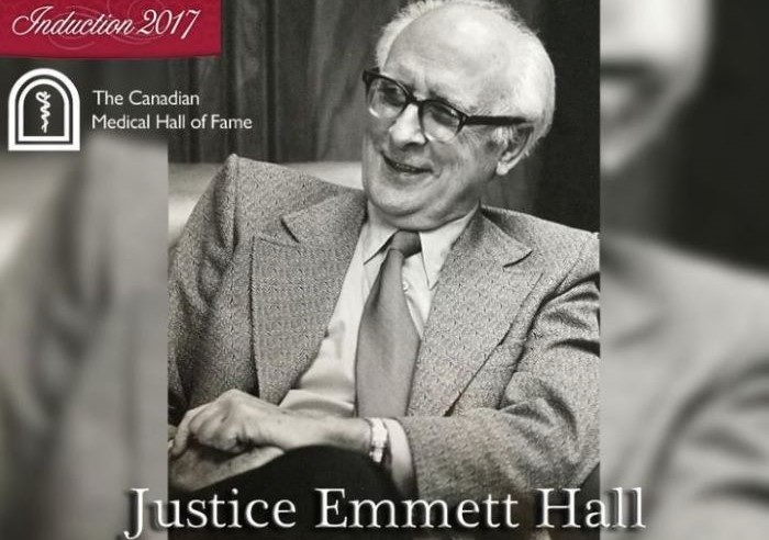archive photo of Justice Emmett Hall