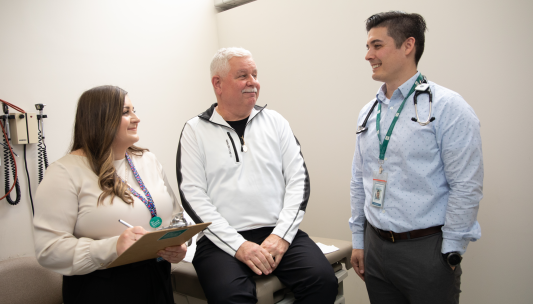 Dr Walsh and patients